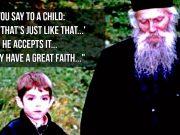 Fr. Thaddeus - Children trust us completely